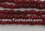 CCN4520 15.5 inches 4*6mm rice candy jade beads wholesale