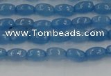 CCN4521 15.5 inches 4*6mm rice candy jade beads wholesale