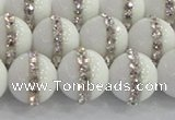 CCN4602 15.5 inches 10mm round candy jade with rhinestone beads