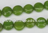 CCN482 15.5 inches 12mm flat round candy jade beads wholesale