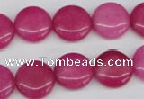 CCN486 15.5 inches 14mm flat round candy jade beads wholesale