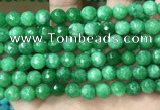 CCN5054 15.5 inches 8mm & 10mm faceted round candy jade beads