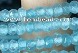 CCN5112 15 inches 3*4mm faceted rondelle candy jade beads