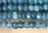 CCN5113 15 inches 3*4mm faceted rondelle candy jade beads