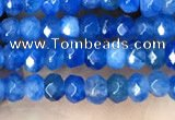 CCN5114 15 inches 3*4mm faceted rondelle candy jade beads