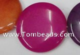 CCN512 15.5 inches 40mm flat round candy jade beads wholesale
