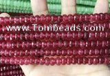 CCN5144 15 inches 5*8mm faceted rondelle candy jade beads