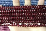 CCN5145 15 inches 5*8mm faceted rondelle candy jade beads