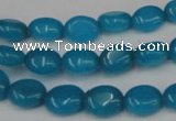 CCN521 15.5 inches 8*10mm oval candy jade beads wholesale