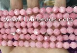 CCN5237 15 inches 8mm faceted nuggets candy jade beads