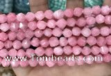 CCN5238 15 inches 8mm faceted nuggets candy jade beads