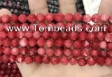 CCN5240 15 inches 8mm faceted nuggets candy jade beads