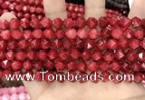 CCN5241 15 inches 8mm faceted nuggets candy jade beads