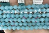 CCN5245 15 inches 8mm faceted nuggets candy jade beads