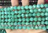 CCN5247 15 inches 8mm faceted nuggets candy jade beads