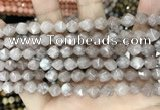 CCN5250 15 inches 8mm faceted nuggets candy jade beads