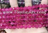 CCN5256 15 inches 8mm faceted nuggets candy jade beads