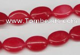 CCN528 15.5 inches 10*14mm oval candy jade beads wholesale