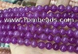 CCN5366 15 inches 8mm round candy jade beads Wholesale