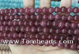 CCN5368 15 inches 8mm round candy jade beads Wholesale