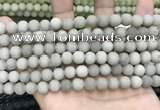 CCN5578 15 inches 8mm round matte candy jade beads Wholesale