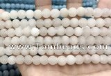 CCN5580 15 inches 8mm round matte candy jade beads Wholesale