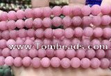 CCN5594 15 inches 8mm round matte candy jade beads Wholesale
