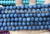 CCN5612 15 inches 8mm round matte candy jade beads Wholesale