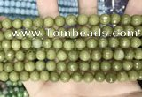 CCN5671 15 inches 8mm faceted round candy jade beads