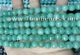 CCN5672 15 inches 8mm faceted round candy jade beads
