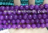 CCN5798 15 inches 10mm faceted round candy jade beads