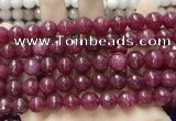 CCN5804 15 inches 10mm faceted round candy jade beads