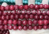 CCN5810 15 inches 10mm faceted round candy jade beads
