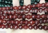 CCN5813 15 inches 10mm faceted round candy jade beads