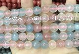 CCN5822 15 inches 10mm faceted round candy jade beads