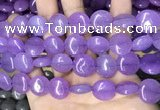 CCN5875 15 inches 15mm flat round candy jade beads Wholesale