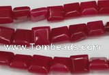 CCN588 15.5 inches 8*8mm square candy jade beads wholesale