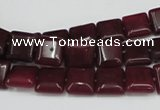 CCN589 15.5 inches 10*10mm square candy jade beads wholesale