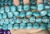 CCN5894 15 inches 15mm flat round candy jade beads Wholesale