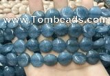 CCN5896 15 inches 15mm flat round candy jade beads Wholesale