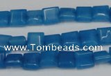 CCN591 15.5 inches 8*8mm square candy jade beads wholesale