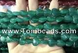 CCN5928 15 inches 12*12mm heart candy jade beads Wholesale