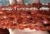 CCN5935 15 inches 12*12mm heart candy jade beads Wholesale