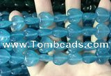 CCN5955 15 inches 14*14mm heart candy jade beads Wholesale