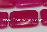 CCN611 15.5 inches 20*30mm rectangle candy jade beads wholesale
