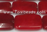 CCN612 15.5 inches 20*30mm rectangle candy jade beads wholesale