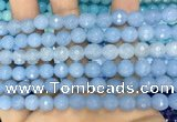 CCN6312 15.5 inches 8mm faceted round candy jade beads Wholesale