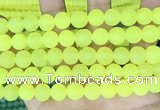CCN6367 15.5 inches 6mm, 8mm, 10mm & 12mm round matte candy jade beads