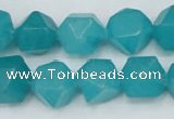 CCN668 15.5 inches 15*15mm faceted nuggets candy jade beads
