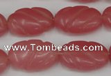 CCN681 15.5 inches 15*23mm carved oval candy jade beads wholesale